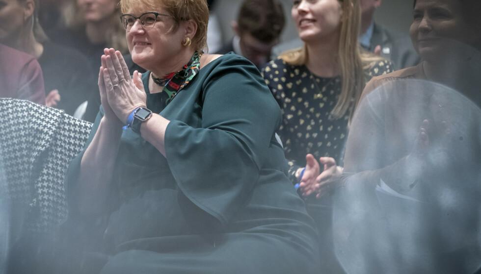 Kunnskapsminister Trine Skei Grande (V) endrer fraværsgrensen i videregående skole som følge av koronautbruddet. Arkivfoto: Heiko Junge / NTB scanpix