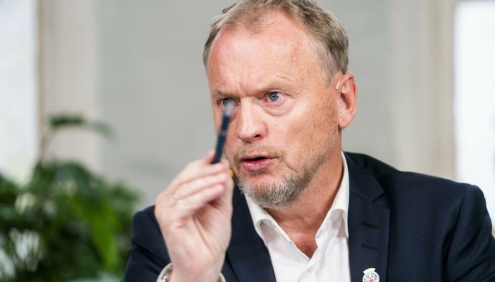 Raymond Johansen fra Arbeiderpartiet ber folk i Oslo om å holde seg hjemme. Foto: Håkon Mosvold Larsen / NTB scanpix