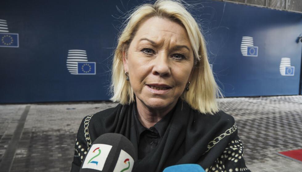 Justis- og beredskapsminister Monica Mæland (H) sier listen over de viktigste funksjonene kan bli endret. Foto: Fredrik Ljone Holst / NTB scanpix