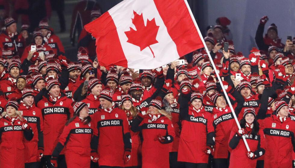Canada kommer ikke til å delta i sommer-OL i Tokyo. Her fra åpningsseremonien under vinter-OL i 2018.
