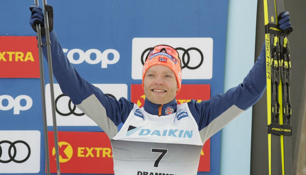Eirik Brandsdal ble nummer tre i verdenscupsprinten på Konnerud 4. mars. Foto: Vidar Ruud / NTB scanpix
