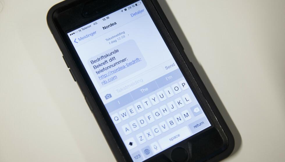 Telenor oppfordrer alle å ha en sunn skepsis til eposter og SMSer som utgir seg å være fra for eksempel kjente banker, nettbutikk eller strømmetjenester. Illustrasjonsfoto: Heiko Junge / NTB scanpix