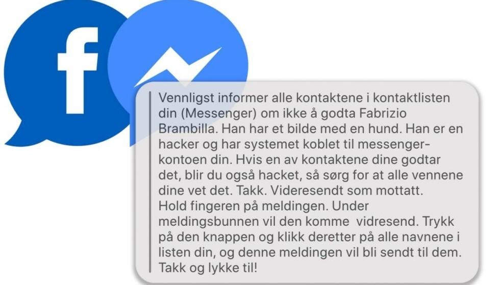 Facebook-melding er bare tull