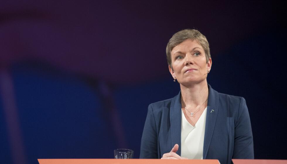 President i Legeforeningen Marit Hermansen mener det er urovekkende at helsemyndighetene hemmeligholder informasjon om smittevernutstyr. Foto: Torstein Bøe / NTB scanpix