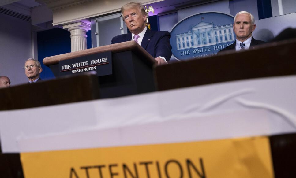 President Donald Trump har advart om at de neste dagene blir «forferdelige». Foto: Alex Brandon / AP / NTB scanpix