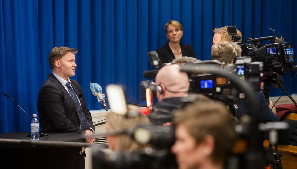 I snart halvannen måned har regjeringen og helsemyndighetene holdt daglige pressekonferanser om coronautbruddet. Foto: Fredrik Varfjell / NTB scanpix