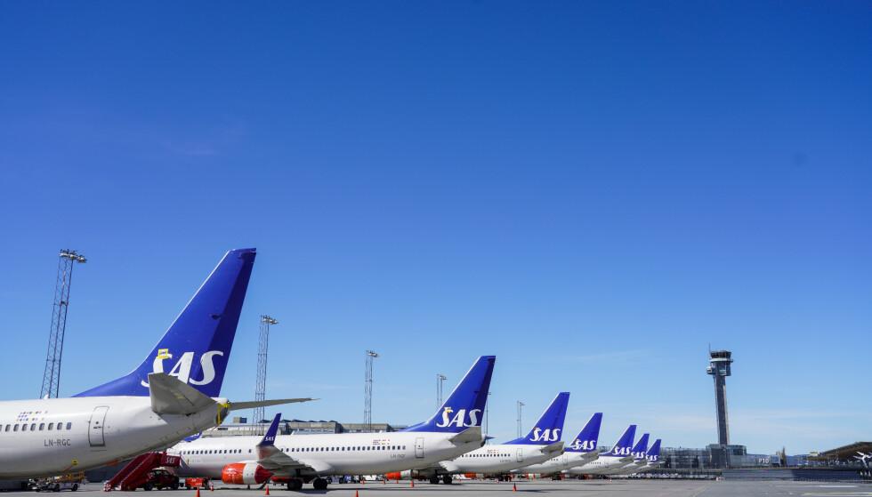 SAS har innført nye smittevernrutiner om bord i sine fly. Illustrasjonsfoto: Håkon Mosvold Larsen / NTB scanpix