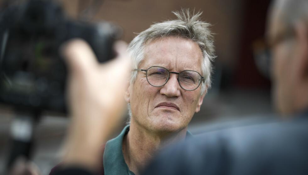 Anders Tegnell, statsepidemiolog, Folkhälsomyndigheten, efter den dagliga myndighetsgemensamma pressträffen om Covid-19. Foto: Pontus Lundahl/TT / NTB scanpix