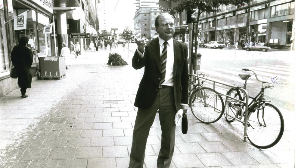 Stig Engström var en av de første på åstedet etter mordet på Olof Palme. Han ble kjent som Skandia-mannen og etterforskere mener nå at Engström sto bak mordet på Palme. Foto: Weine Lexius/EXP/TT / NTB scanpix.