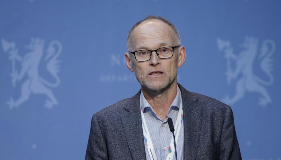 Fagdirektør Frode Forland i Folkehelseinstituttet sier det ikke er sannsynlig med en stor, ny smittetopp i Norge. Foto: Vidar Ruud / NTB scanpix