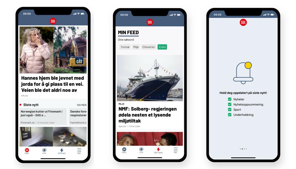 NY APP: SOL Nyheter lanseres i ny drakt og med et forbedret nyhetstilbud.