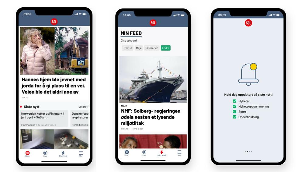 NY APP: SOL Nyheter ble lansert i ny drakt og med et forbedret nyhetstilbud tidligere i år.