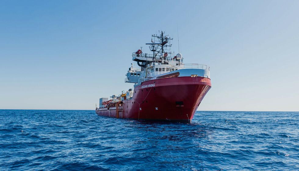 Ocean Viking har bedt om assistanse. FOTO: Flavio Gasperini/SOS Méditerranée via AP/NTB scanpix