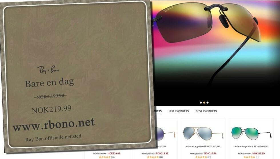 Pass deg for solbrillesvindlere
