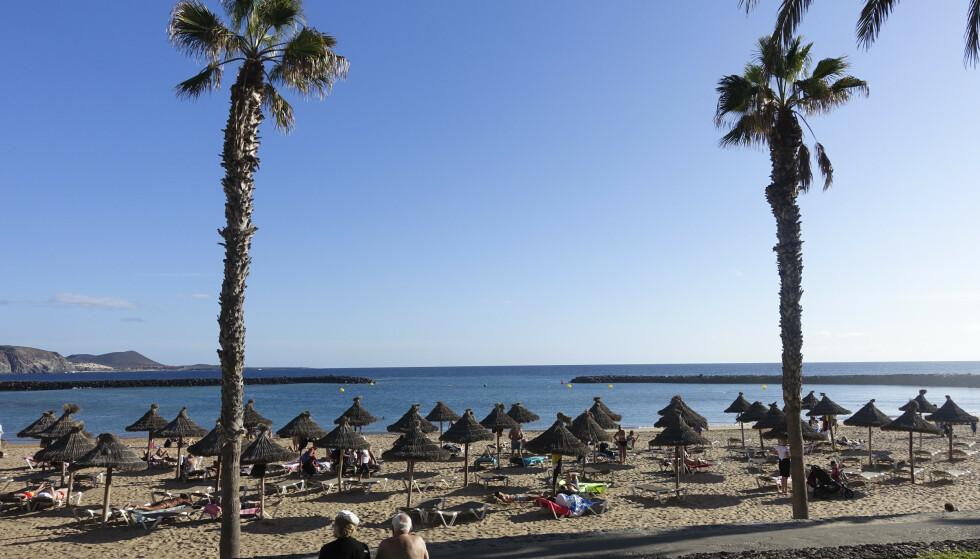 Smittetallet i Spania er over grensen for det Folkehelseinstituttet anser som trygt. Her fra Tenerife. Foto: Marianne Løvland / NTB scanpix