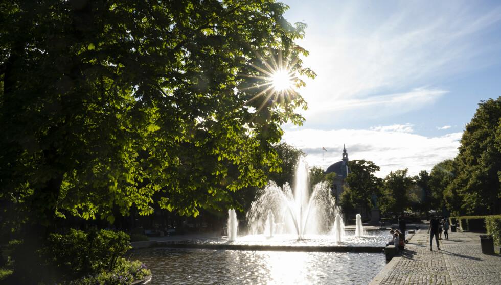 Sol, sommer og finvær i vente i Oslos gater. Her fra Spikersuppa. Illustrasjonsfoto: Fredrik Hagen / NTB scanpix