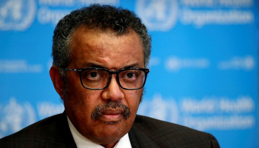 Direktør i Verdens helseorganisasjon Tedros Adhanom Ghebreyesus. Foto: Reuters /NTB scanpix
