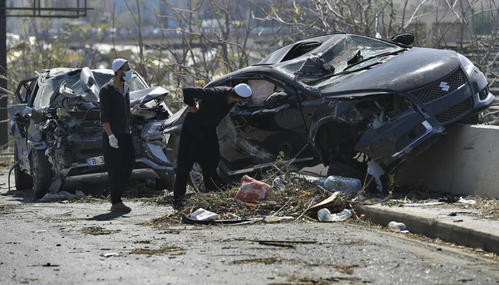 135 mennesker er bekreftet omkommet, men mange er fortsatt savnet etter tirsdagens eksplosjon i havneområdet i Beirut. Foto: AP / NTB scanpix