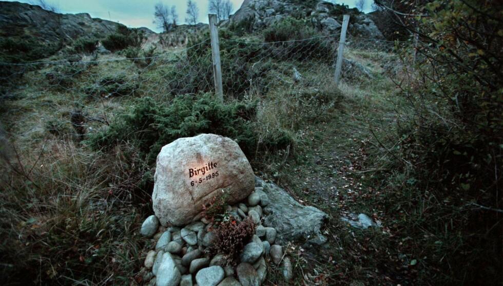 Her er stedet hvor Birgitte Tengs ble funnet drept 6. mai 1995. (NTB-foto: Aleksander Nordahl)forbrytelser / drap / minnesmerker