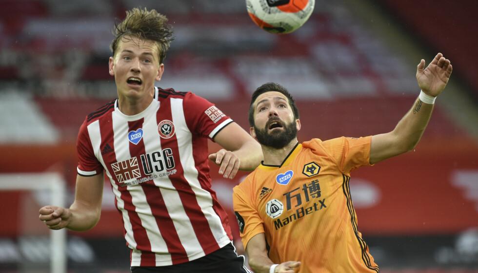 Sander Berge var god i den omgangen Sheffield United fikk spilt i den første treningskampen før sesongstart. Her i en Premier League-kamp i sommer. Foto: Rui Vieira, Pool via AP / NTB scanpix