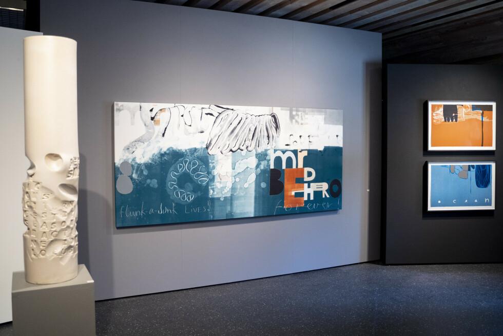 Greåker 20200827.  Magne Furuholmen er tilstede på Soli Brug i Greåker hvor han viser frem sine nye kunstutstillinger. Foto: Fredrik Hagen / NTB scanpix