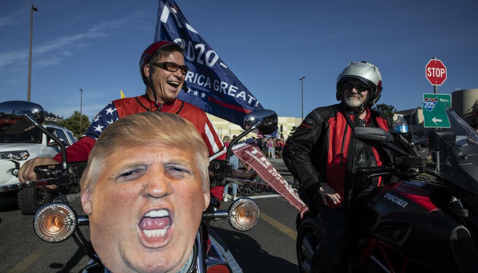 Trump-tilhengere på vei til Portland. Foto: Paula Bronstein / AP / NTB scanpix