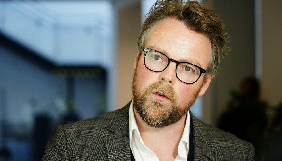 Arbeids- og sosialminister Torbjørn Røe Isaksen (H) kommenterer resultatet av trygdeoppgjøret. Foto: Håkon Mosvold Larsen / NTB scanpix
