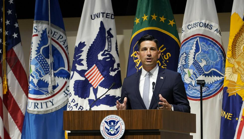 En varsler anklager fungerende sjef Chad Wolf i departementet for innenlands sikkerhet (DHS) for å ha forsøkt å legge føringer på innholdet i etterretningsrapporter. Foto: Susan Walsh / AP / NTB scanpix