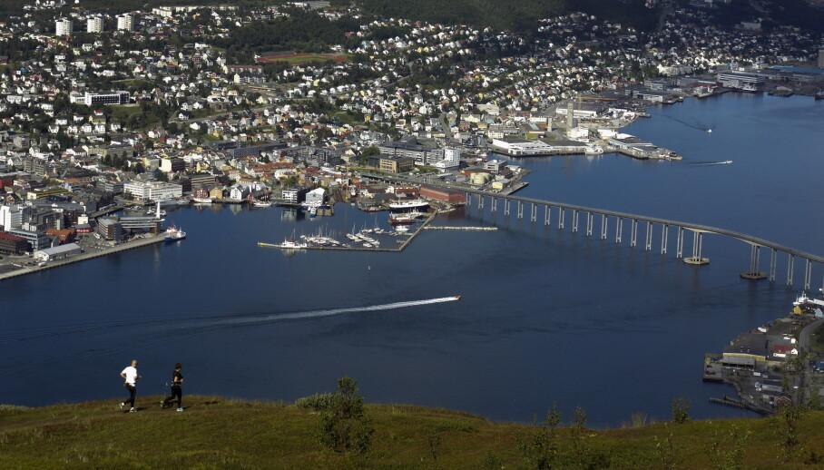 Det blir vått i Tromsø. (Foto: Marianne Løvland / NTB)