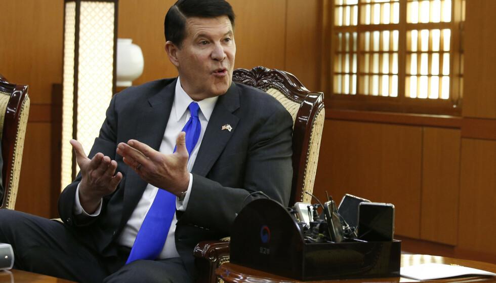 USAs viseminister for økonomisk vekst, energi og miljø, Keith Krach, besøker Taiwan, noe som neppe vil bidra til å bedre forholdet mellom Washington og Beijing. Foto: AP / NTB