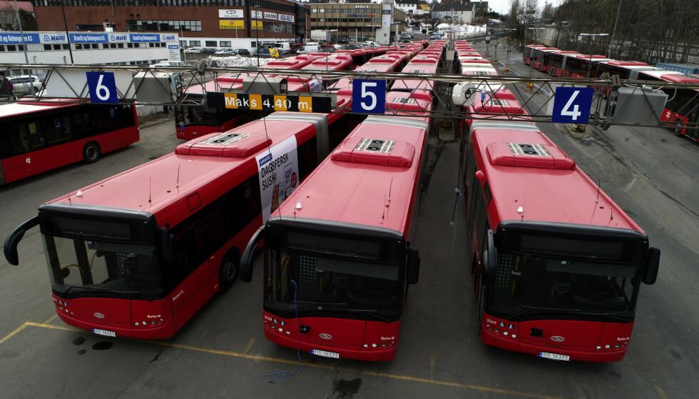 3.800 bussjåfører på Østlandet kan bli tatt ut i streik fra søndag. Illustrasjonsfoto: Cornelius Poppe / NTB