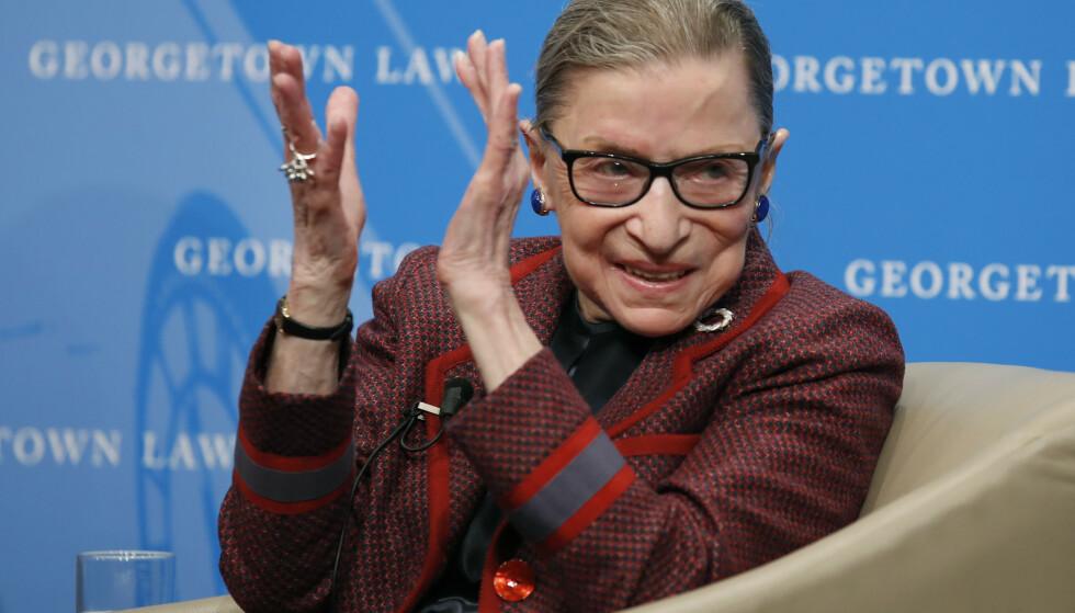 Den amerikanske høyesterettsdommeren Ruth Bader Ginsburg er død. Foto: Alex Brandon / AP / NTB