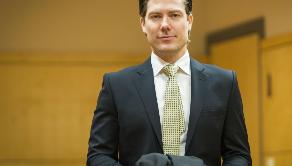 Advokat Christian Flemmen Johansen forsvarer den tidligere salgslederen i Nortura som er tiltalt for grov korrupsjon. – Tiltalen reflekterer ikke det som faktisk har skjedd, sier han. Foto: Heiko Junge / NTB