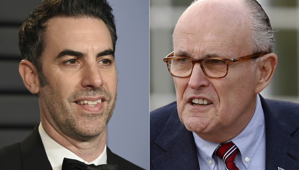 Sacha Baron Cohen lurte tidligere ordfører Rudy Giuliani inn på et hotellrom der han ble filmet sammen med en ung kvinne. Foto: AP / NTB