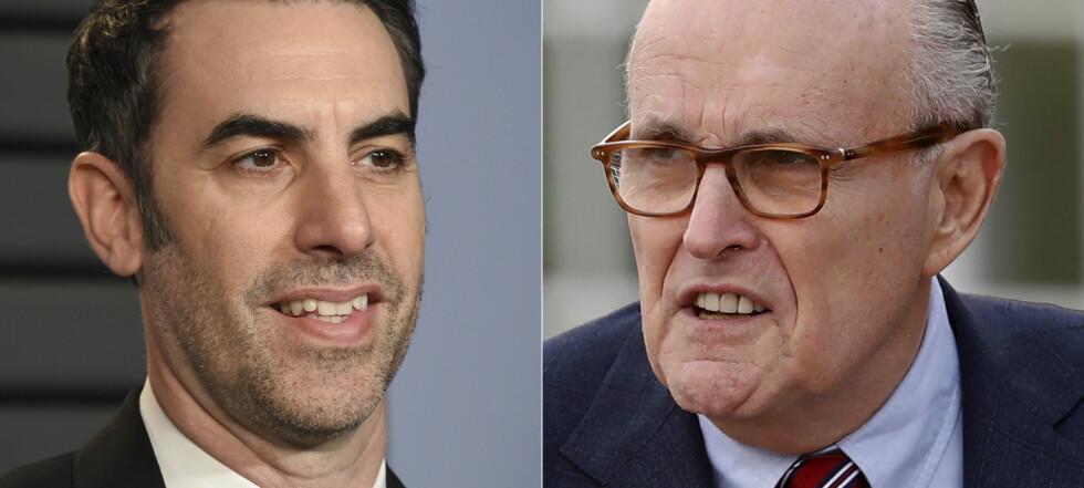 Giuliani lurt til hotellrom med ung kvinne i ny Borat-film