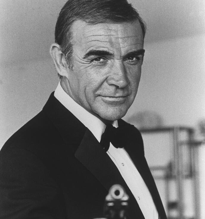 Sean Connery i 1982 under innspillingen av James Bond-film. (Foto: AFP/NTB)