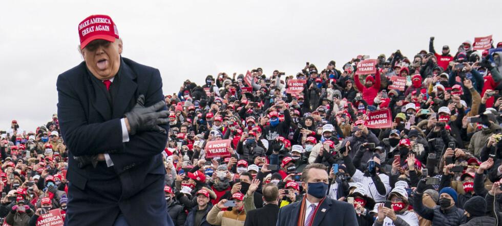 Trump feier innom fem delstater i sluttspurten