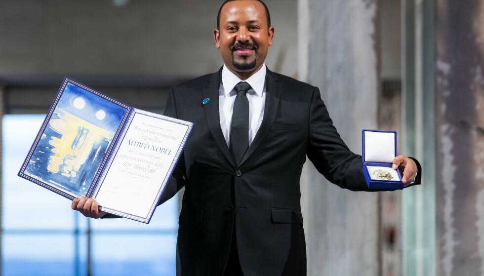 Etiopias statsminister Abiy Ahmed, som ble belønnet med Nobels fredspris i fjor, har gått til krig mot opprørere i Tigray-regionen. Foto: Håkon Mosvold Larsen / NTB