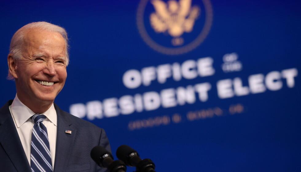 Kina snudd og gratulerer Joe Biden med valgseieren. REUTERS/Jonathan Ernst TPX IMAGES OF THE DAY