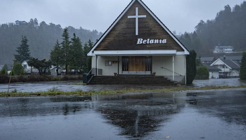 Utbruddet i Lyngdal knyttes til flere møter i en rumensk menighet i bedehuset Betania. Foto: Tor Erik Schrøder / NTB