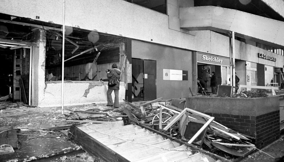 21 personer ble drept, og 182 personer ble skadd i angrepet på pubene Mulberry Bush og Tavern in the Town i Birmingham 21. november 1974. Foto: NTB scanpix / PA