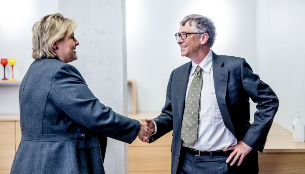 Erna Solberg og Bill Gates. Foto: Stian Lysberg Solum / NTB