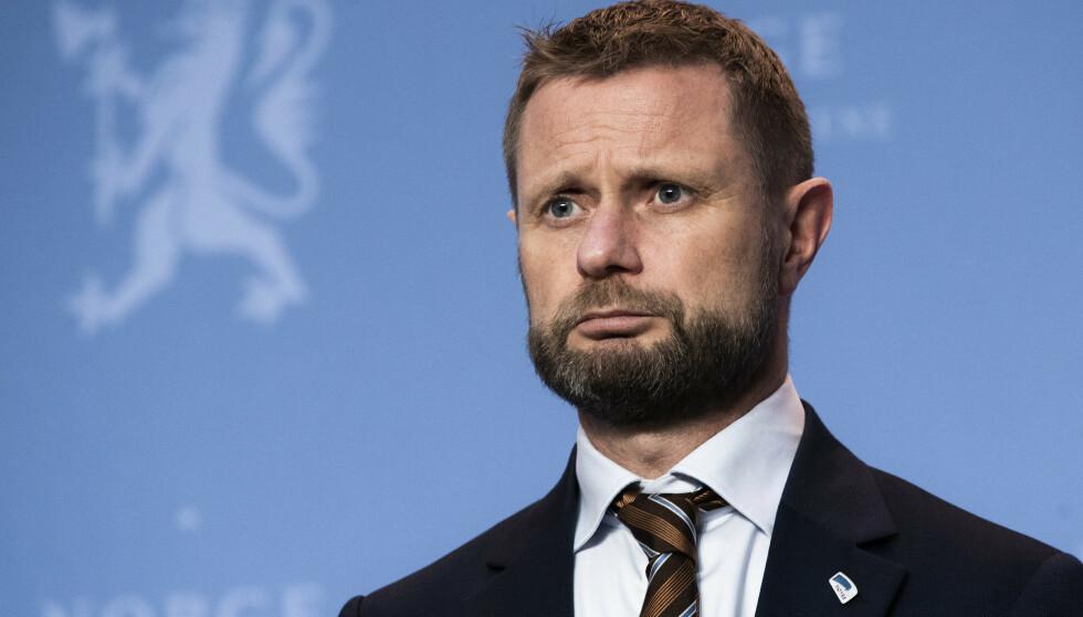 Helse- og omsorgsminister Bent Høie (H) medgir at koronasmitte på sykehjem «gikk under radaren». Foto: Berit Roald / NTB