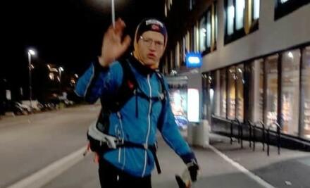 Image: Gikk 86 km i Oslo - så tok han coronatest