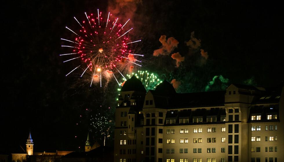 I år blir det ikke noe stort fyrverkeri på nyttårsaften i regi av Oslo kommune. Arkivfoto: Berit Roald / NTB