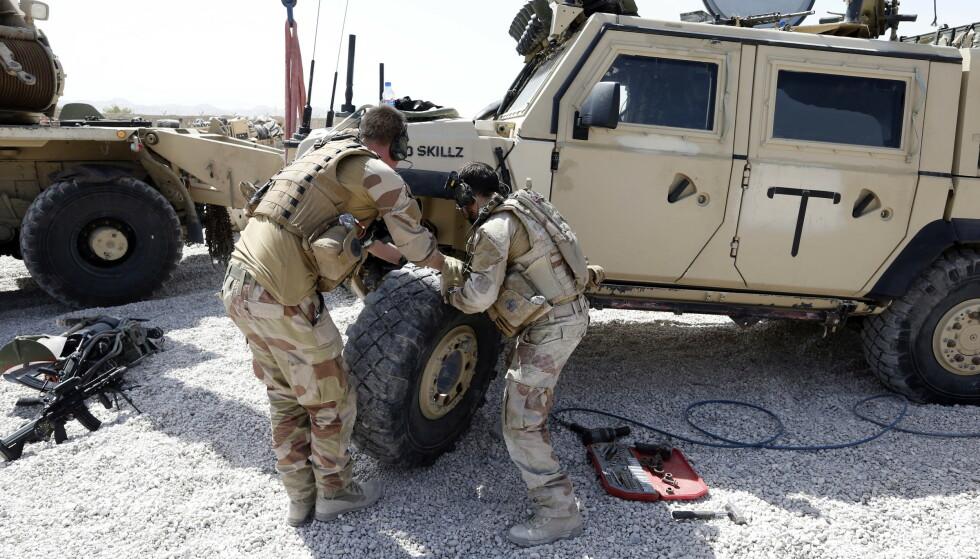 Norske soldater i Camp Maimanah i Faryab, Afghanistan i september 2012, kort tid før den norske kontingenten forlot campen. Foto: Lise Åserud / NTB
