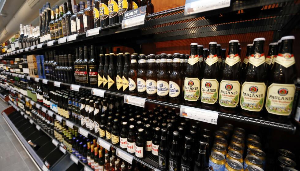 Alkoholsalget i Norge gikk til værs i 3. kvartal i år. Foto: Lise Åserud / NTB