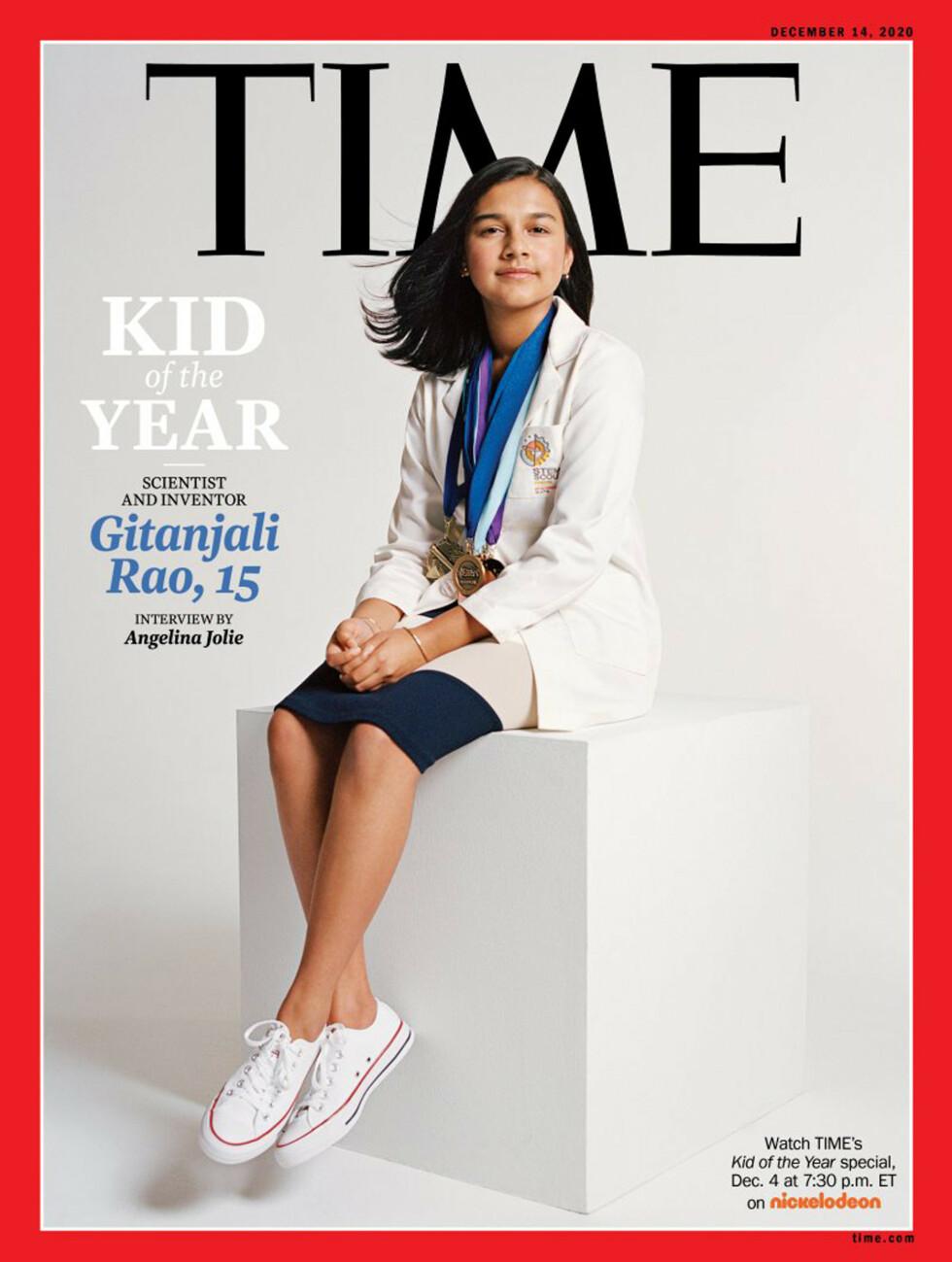 Time Magazine har kåret Gitanjali Rao til «årets barn». Foto: Sharif Hamza for TIME via AP / NTB