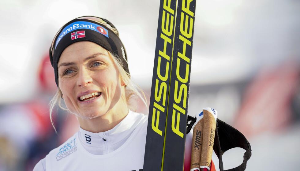 Therese Johaug vinner og vinner. Lørdag var hun best i norgescuprennet på Natrudstilen på Sjusjøen. Foto: Heiko Junge / NTB