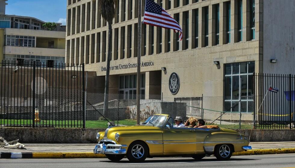 Den amerikanske ambassaden i Havana. (Foto: AFP/NTB)